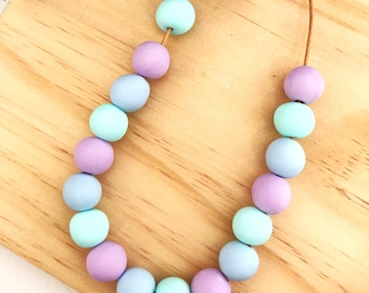 Pastel Berry Handmade Polymer Clay Necklace