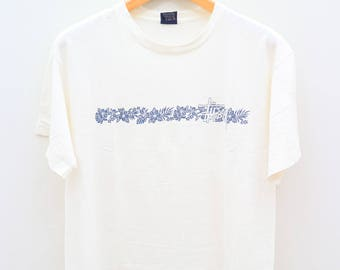 Vintage STUSSY Streetwear Hip Hop White Tee T Shirt Size L