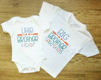 Personalised, Big Brother, Little Brother, Big Brother t-shirt, Little Brother vest, personalised Brother gift, New brother gift, siblings