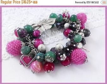Sale Woman beaded bracelet Beaded earrings Colorful earrings Colorful bracelet Colorful jewelry set Gems set Aventurine earrings Tourmaline