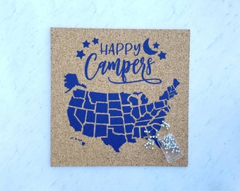 Corkboard map Etsy