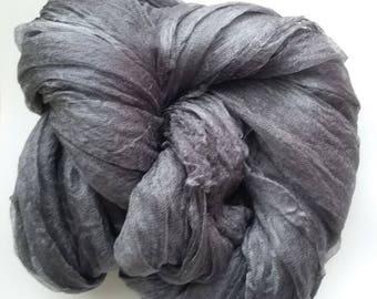 Silk gauze. 100% Uzbek silk. Hand dyed.