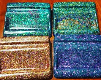 Glitter Resin Business Card Holder