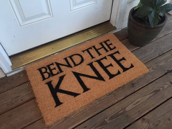Game of Thrones 'Bend the Knee' Door Mat