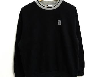 RARE!!! Fila Small Logo Crew Neck Black Colour Sweatshirts Hip Hop Swag L Size