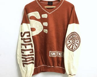 RARE!!! SANTAFE Big Logo Embroidery SpellOut Crew Neck Sweatshirts Hip Hop Swag L Size