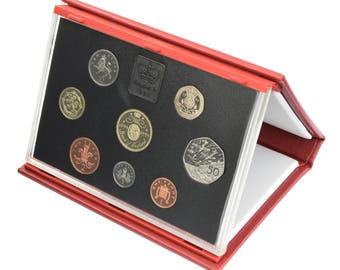 1994 Royal Mint Proof Set Red Leather Deluxe