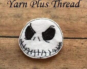 Skull Guy Feltie Embroidery Design