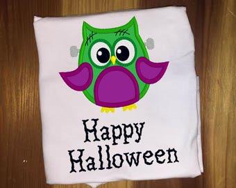 Halloween Frankenstein Owl Shirt