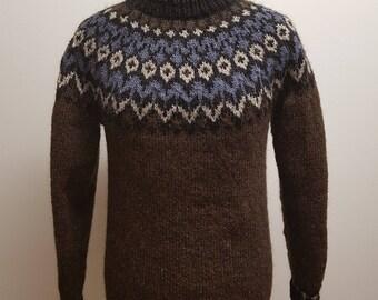 100 % wool sweater, Icelandic pattern
