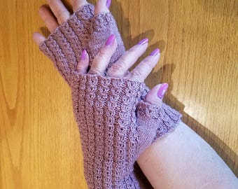 Shaylah Mock Cable Fingerless Gloves