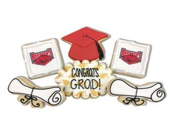Combo Graduation Cookies / Choose any School - 3 Dozen
