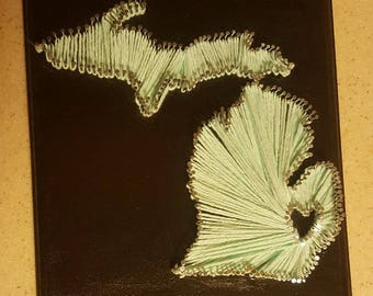 State String Art With Heart