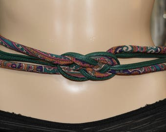 Vintage 80's Green Decorative Belt