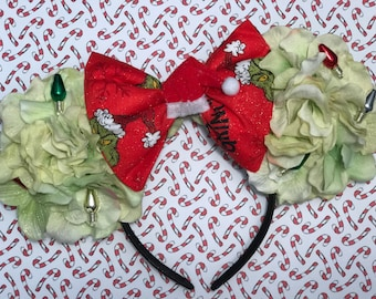 SALE: Grinch Inspired Floral Mouse Ears