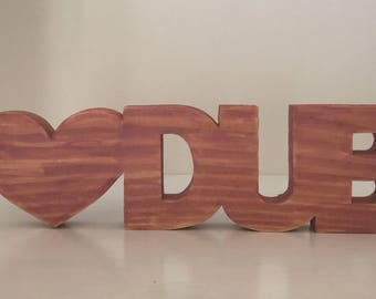 Love dub sign for VW fans, wooden veedub sign. VW camper VW T4, T5 camper van sign. Home decor, 5th wedding anniversary