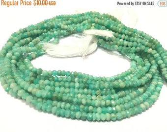 Exclusive Quality Amazonite Micro faceted Roundell 3 - 3.50 mm approx , 14 inch strand