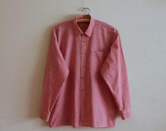 Plaid cotton shirt | Etsy