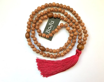 Mala Beads - Mala Necklace - Wooden Mala - 108 Mala Beads - Meditation Beads - Yoga Beads - Prayer Beads - Tassel Beads - Stretch Mala