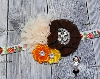 Gobble Gobble Princess Headband thanksgiving autumn
