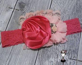 Pinky Doo Princess Couture handmade birthday baptism baby shower pink Fuschia lace