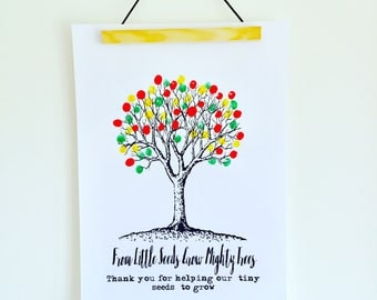 Teacher Gift, Present from Student, End of School Year, Thank you Teacher, Teacher Poster, Personalised Gift, From Little Seeds Quote