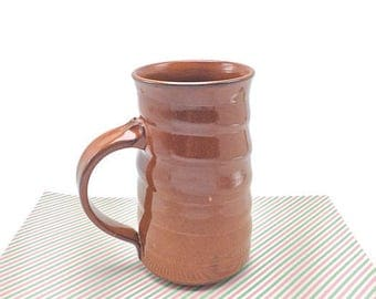 Pottery mug, ceramic mug, brown glaze, coffee mug, tea cup, pottery mug,stoneware mug, handmade mug, brown mug, brown pottery, brown pottery