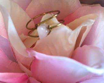 Light Pink Crystal Ring
