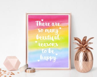 Beautiful reasons to be happy - Print
