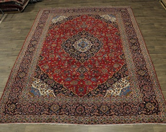 Gorgeous Handmade S Antique Red Kashan Persian Rug Oriental Area Carpet 10X13