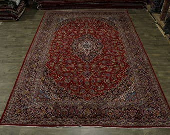 Lovely S Antique Palace Size Rare Kashan Persian Rug Oriental Area Carpet 10X15