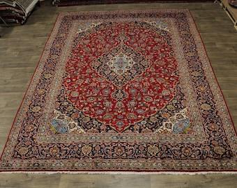 Delightful S Antique Traditional Kashan Persian Rug Oriental Area Carpet 10X13
