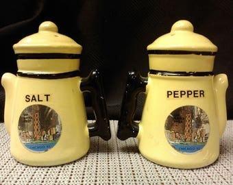 Coffee pot salt & pepper/seasoning shaker from Chicago, Il of the John Hancock Center made Japan in Mid to late-1900s