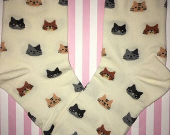 Cat Head Socks