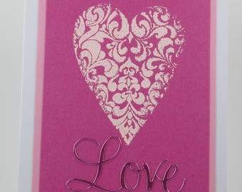 Heart Love Anniversary Card