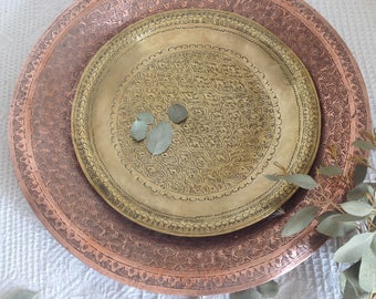 Brass trays and copper