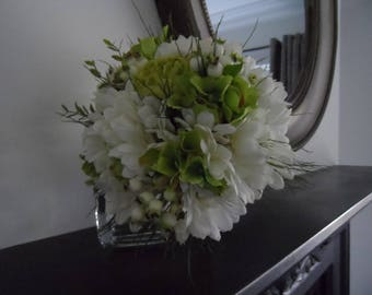 Gerbera wedding Bouquet, silk flower bouquet, faux flowers bouquet, bridesmaid bouquet