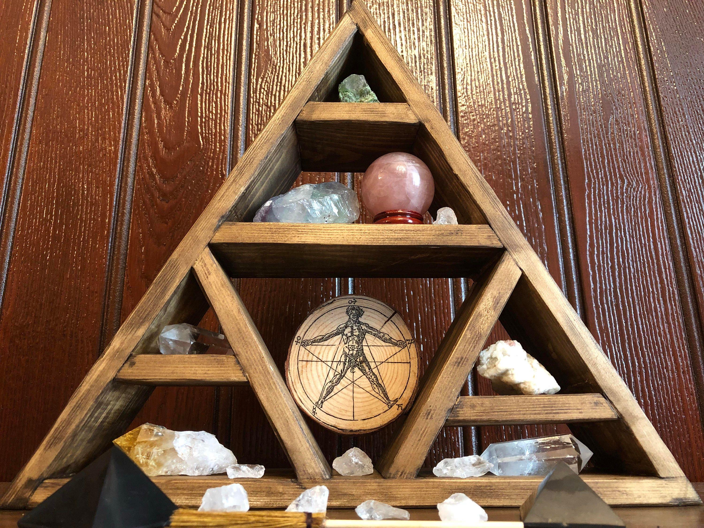 Crystal Triangular Display Shelf || Wicca || Witchcraft