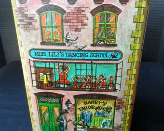 Vintage 1979 Cheinco Industries Tin Canister Sugar House, Confectionary    1397