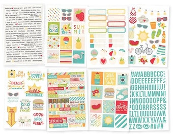 Simple Stories Summer Days 4x6 Sticker pack