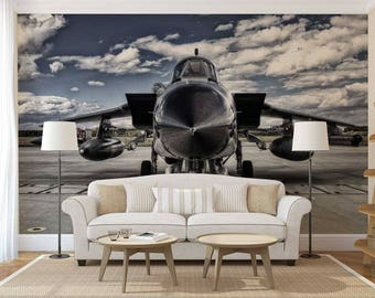 Wall Mural Airplane, Wall Mural Jet, Wallpaper Sky, Airplane Wall Decal, Jet Wall Mural