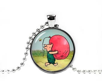 Piglet Pendant Piglet Necklace Classic Winnie the Pooh Jewelry