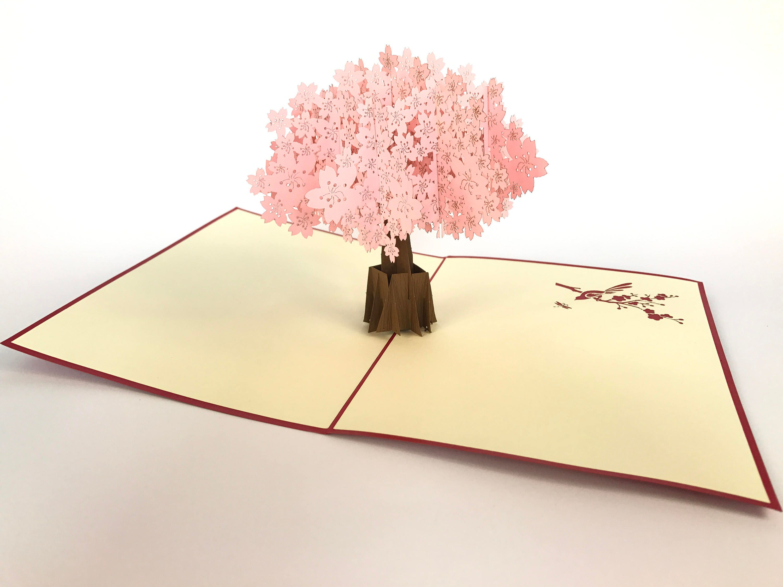 Cherry Blossom Fantastic Flower Handmade Kirigami Origami 3d Pop