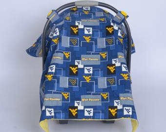 West Virginia Mountaineers Carseat Canopy
