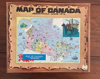Vintage Map of Canada Jigsaw Puzzle