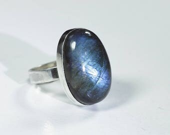 Labradorite unique ring silver Ring size 6.1 (6)