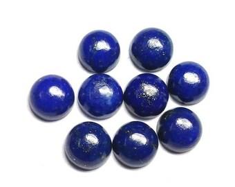 10 pcs 5mm lapis lazuli cabochon, natural lapis lazuli round cabochon gemstone, Lapis Lazuli Cabs Round 5mm, lapis lazuli cabochon round