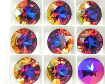 Swarovski 6203 Autumn in Tuscany 17mm Vintage Top Drill Pendants