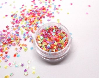 Glitter star color AB - high quality - for hobby