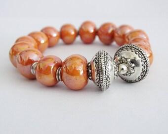 Olympus (pumpkin) bracelet